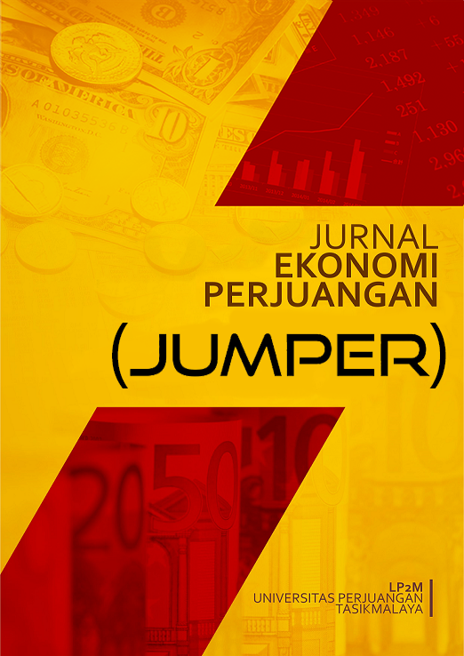 Jurnal Ekonomi Perjuangan (JUMPER) (p-ISSN : 2714-8319,e-ISSN: 2714-7452) Jurnal Ekonomi Perjuangan is a journal which is published by the Research Department of the Universitas Perjuangan Tasikmalaya. Jurnal Ekonomi Perjuangan publishes manuscript articl
